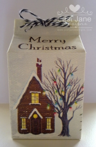Mini Milk Carton Christmas