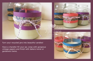 Recycle your old jars.