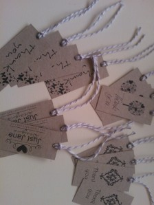 'Botany' mini tags. (c) Just Jane Designs